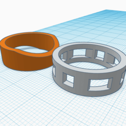 an2 del 1 al 10.png Download free STL file Unisex ring, model AN2 1 and 2 • 3D printing template, Estairco