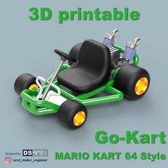 Cover Luigi Cults.jpg Download STL file Mario Kart 64 Style Go-Kart (for San-Ei Plushs and Amiibos) • Design to 3D print, Nerd_Maker_Engineer