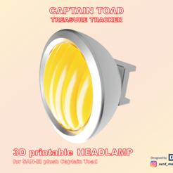 Folie1.PNG Download STL file Captain Toad Headlamp for SAN-EI plush figure • 3D printing model, Nerd_Maker_Engineer
