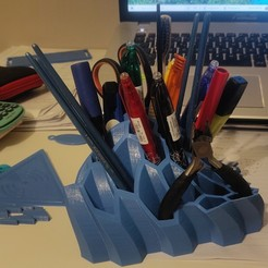 Download free STL file Pen and Pencil Holder  • 3D print object, reels62