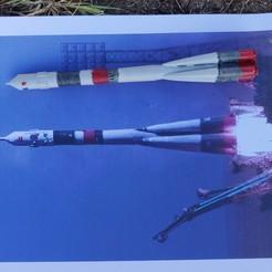 Download free OBJ file Soyuz TMA Rocket - MakerEd Project • 3D printable template, reels62