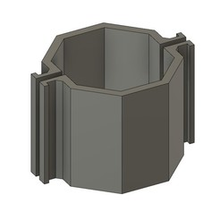 mod04.jpg Download STL file CEMENT CANDLEHOLDER MOULD MOD04 • 3D printable object, 373estudio