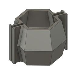 mod06.jpg Download STL file CEMENT CANDLEHOLDER MOULD MOD06 • 3D print model, 373estudio