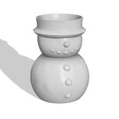 Deco_stl.jpg Download STL file SNOWMAN PENCIL POT CHRISTMAS • 3D print object, 373estudio