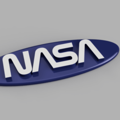 nasa.png Download STL file Nasa keychain • 3D printable model, Gain71