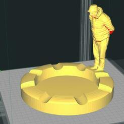 PORTACENERE UMARELL.jpg Télécharger fichier STL Cendrier cigare Umarell • Plan pour imprimante 3D, Gain71