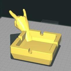 corna_quadrato.jpg Télécharger fichier STL Cendrier à cornes carrées • Design pour imprimante 3D, Gain71