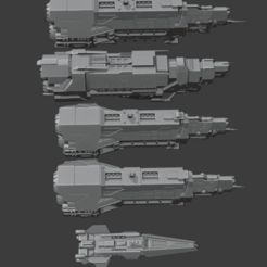 Ships.png Download STL file Halo star ships collection • 3D print design, Techno7777