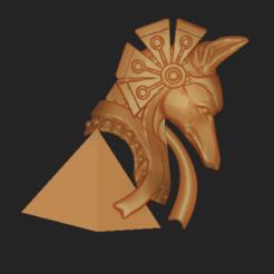 Download OBJ file Anubis • 3D print template, VNJewelryDesigner