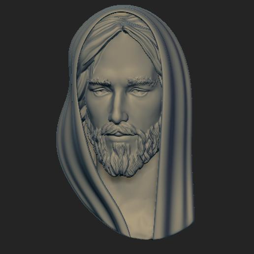 Download OBJ file Jesus Pendant • 3D printable design, VNJewelryDesigner