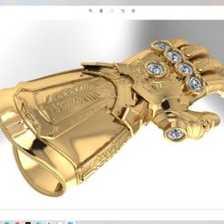 Download OBJ file Infinity gauntlet • 3D printing model, VNJewelryDesigner