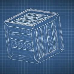 crate.jpg Download free STL file Crate wooden box • 3D print model, frogkillerpl