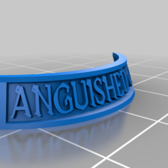 AnguishedOne.png Download free STL file Lady Harrow's Mournflight - Nameplates • Design to 3D print, ValienWargaming_3D