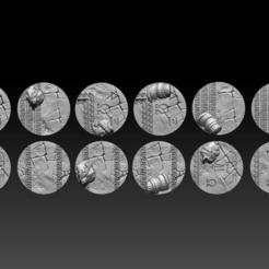 Descargar archivos 3D El paquete temático griego BaseTops, ValienWargaming_3D