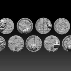 Télécharger plan imprimante 3D Basetops à thème grec 40mm, ValienWargaming_3D