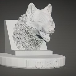 20200903_221034.jpg Download STL file wolfhead with support • 3D printing design, franlocopero