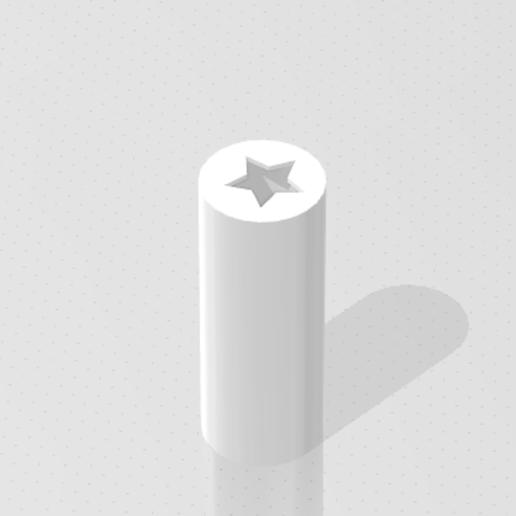 Star_cigar_tip.png Download free STL file Star cigar tip • 3D print design, M4TH14S