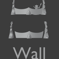 wall (1).PNG Download STL file Space elfs terrain eldar warhammer 40k inspired wall  • 3D printer object, Punkgirl