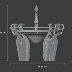 dimensions landing 2.PNG Download STL file Space elfs terrain eldar warhammer 40k inspired landing pad • 3D printer design, Punkgirl