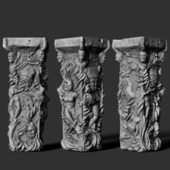 ola mazi.jpg Download OBJ file flesh totem hellraiser 28mm great for DND or wargaming • Model to 3D print, Punkgirl