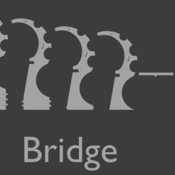 bridge (1).PNG Download STL file Space elfs terrain eldar warhammer 40k inspired bridge • 3D printable template, Punkgirl