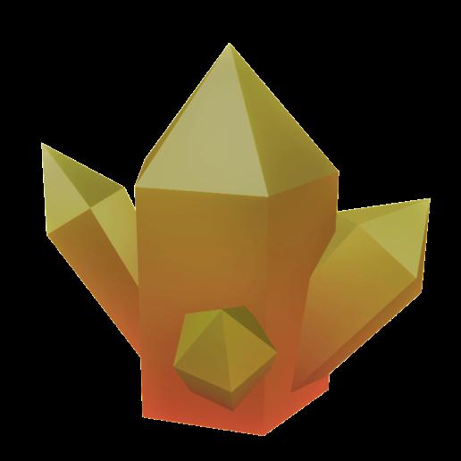 Download free STL file Gradient Yellow-Red Gem • 3D printable model, ZatX