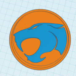 Download free OBJ file ThunderCats Embossed Logo • 3D printable design, robotekmania