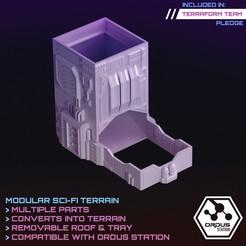 Dice Tower 2.jpg Download STL file Scifi Dice Tower  • 3D printing template, SaucermenStudios