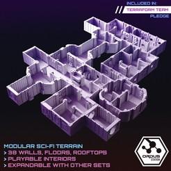 interiors.jpg Download STL file Ordus Station - Modular Scifi Interiors (Core Set)  • 3D print object, SaucermenStudios