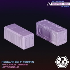 shipping containers.jpg Download STL file Shipping Containers  • Model to 3D print, SaucermenStudios