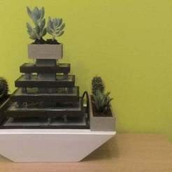 P_20180623_160905.jpg Download free STL file Zen fountain garden • 3D printable object, Hazon_Maker