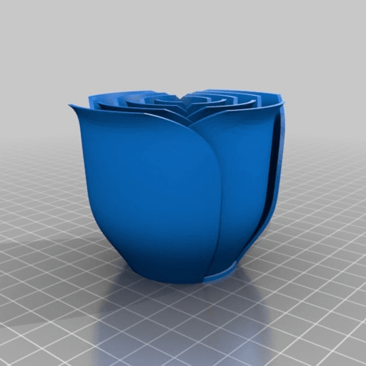 b27f0292f7bcd0cd287f9a4476958699.png Télécharger fichier STL gratuit vase avec des roses • Design imprimable en 3D, Hazon_Maker