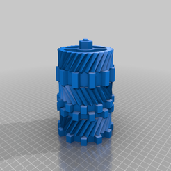 Download 3D printing models Gear pen holder, Hazon_Maker