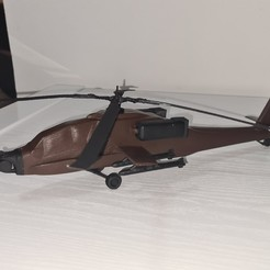 Download STL file helicopter - copter - apache - US army • 3D printing model, zivs