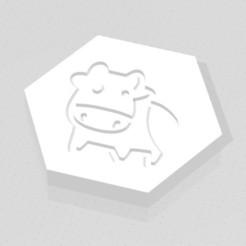 D2 - Cartoon Cow.jpg Download STL file D2 Cute Cartoon Cow Symbol Logo • 3D printable template, verasartsanddice