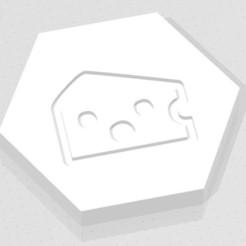 D2 - Baffled Cheese.jpg Télécharger fichier STL D2 Logo du symbole du fromage à pâte filée • Modèle imprimable en 3D, verasartsanddice