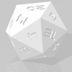 D20 Sharp Edge.jpg Télécharger fichier STL D20 Sharp Edge - Police de caractères Sci-Fi • Plan pour imprimante 3D, verasartsanddice