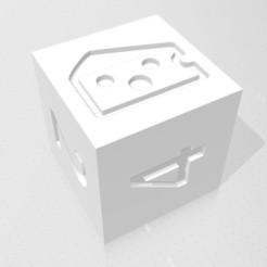 D6 - Baffled Cheese.jpg Télécharger fichier STL D6 Logo du symbole du fromage à pâte filée • Design imprimable en 3D, verasartsanddice