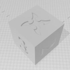 D6 - Ninja Shuriken.jpg Download STL file D6 Ninja Shuriken Symbol Logo • 3D printable object, verasartsanddice