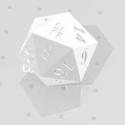 D20 - Candles.jpg Download STL file D20 Candles Symbol Logo • 3D printer template, verasartsanddice