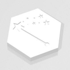 D2 - Magic Wand.jpg Download STL file D2 - Magic Wand Symbol Logo • Design to 3D print, verasartsanddice