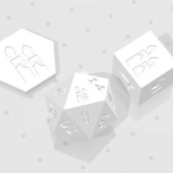 D2 D6 D20 - Candles.jpg Download STL file D2, D6 and D20 - Candles Symbol Logo • 3D print object, verasartsanddice