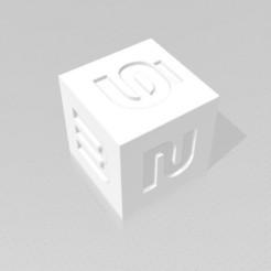 D6 Sharp Edge.jpg Télécharger fichier STL D6 Sharp Edge - Police de caractères Sci-Fi • Objet pour imprimante 3D, verasartsanddice