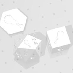 D2 D6 D20 - Chicken Drumstick.jpg Download STL file D2, D6 and D20 - Chicken Drumstick Symbol Logo • 3D printing template, verasartsanddice