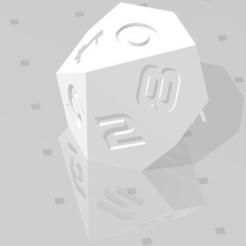D10 Sharp Edge.jpg Télécharger fichier STL D10 Sharp Edge - Police de caractères Sci-Fi • Plan pour impression 3D, verasartsanddice
