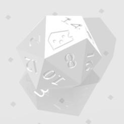 D20 - Baffled Cheese.jpg Télécharger fichier STL D20 Logo du symbole du fromage à pâte filée • Modèle imprimable en 3D, verasartsanddice