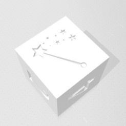 D6 - Magic Wand.jpg Download STL file D6 - Magic Wand Symbol Logo • 3D printable template, verasartsanddice