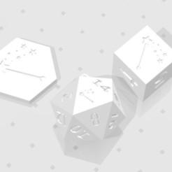 D2 D6 D20 - Magic Wand.jpg Download STL file D2, D6 and D20 - Magic Wand Symbol Logo • Model to 3D print, verasartsanddice