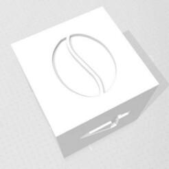 D6 - Coffee Bean.jpg Download STL file D6 - Coffee Bean Symbol Logo • 3D printer object, verasartsanddice