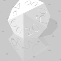 D% Horizontal - Fantasy Elf Font.jpg Download STL file Polyset Dice (Sharp Edges) - Fantasy Elf Font - D4, D6, D8, D10, D12, D% Horizontal, D20 • 3D printing object, verasartsanddice